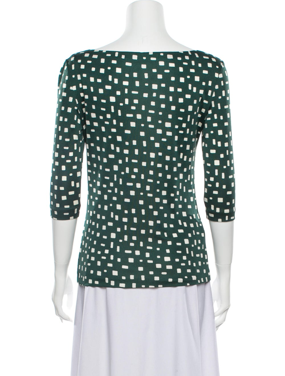 Prada 2013 Silk Blouse Green - image 3
