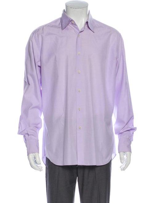 Prada Long Sleeve Dress Shirt Purple