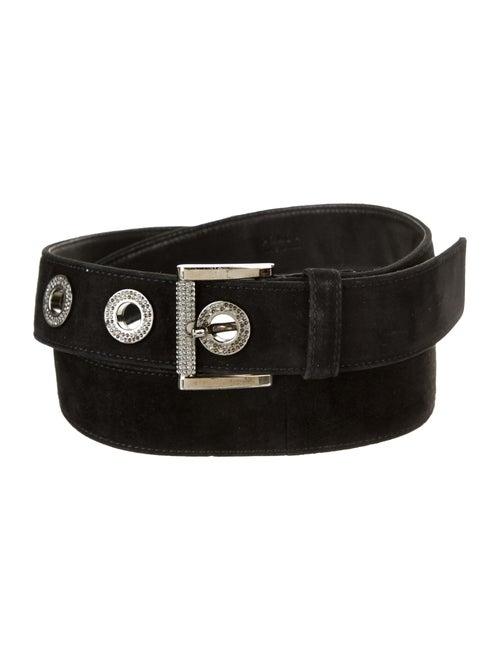 Prada Suede Waist Belt Black