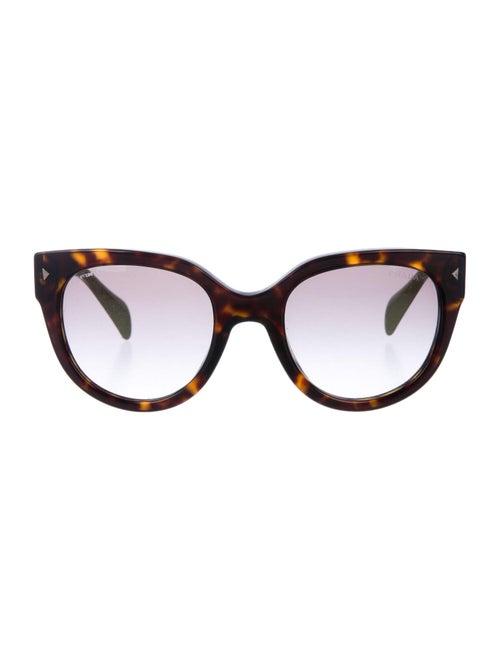 Prada Round Gradient Sunglasses Brown
