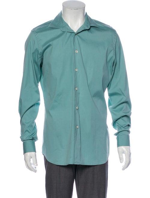 Prada Long Sleeve Dress Shirt Green