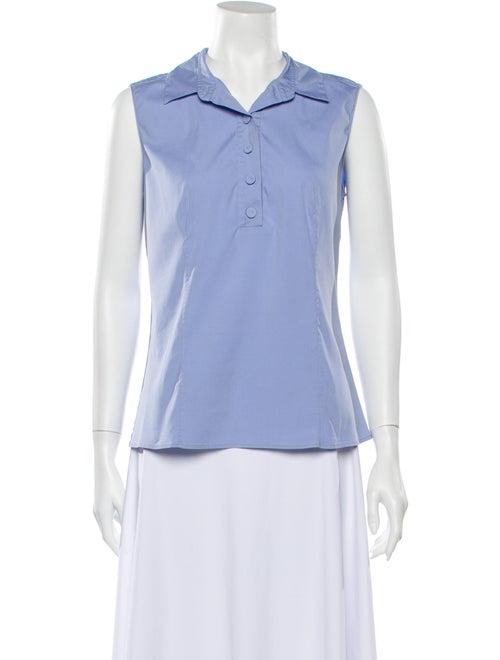 Prada Sleeveless Polo Blue