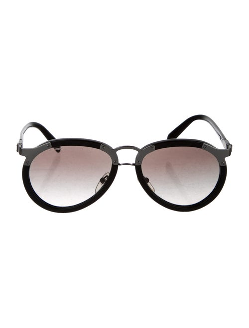 Prada Aviator Gradient Sunglasses Black