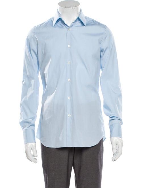 Prada Long Sleeve Dress Shirt Blue