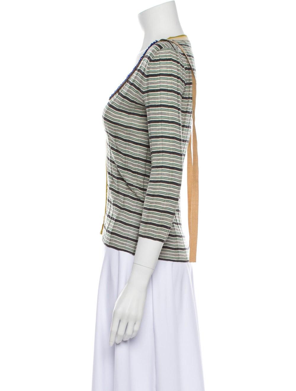 Prada Wool Striped Sweater Wool - image 2