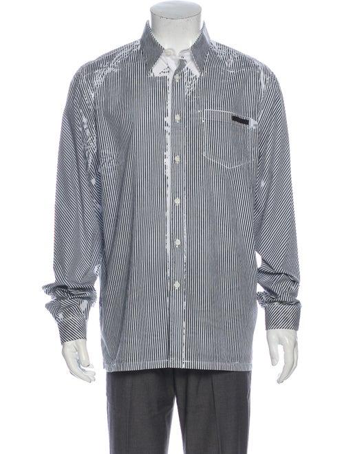 Prada 2019 Striped Dress Shirt Black - image 1