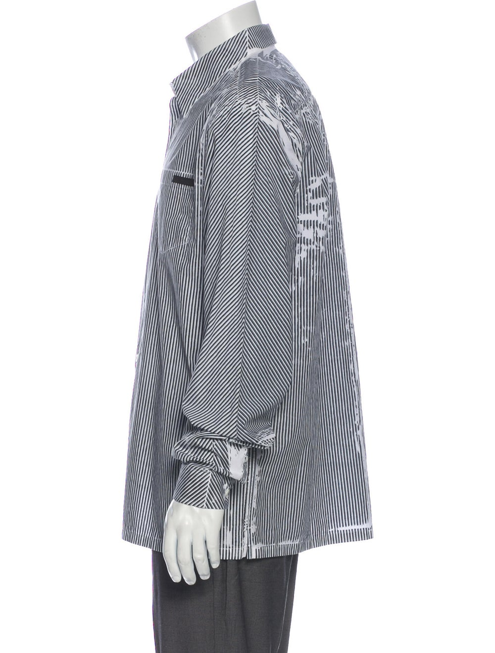 Prada 2019 Striped Dress Shirt Black - image 2