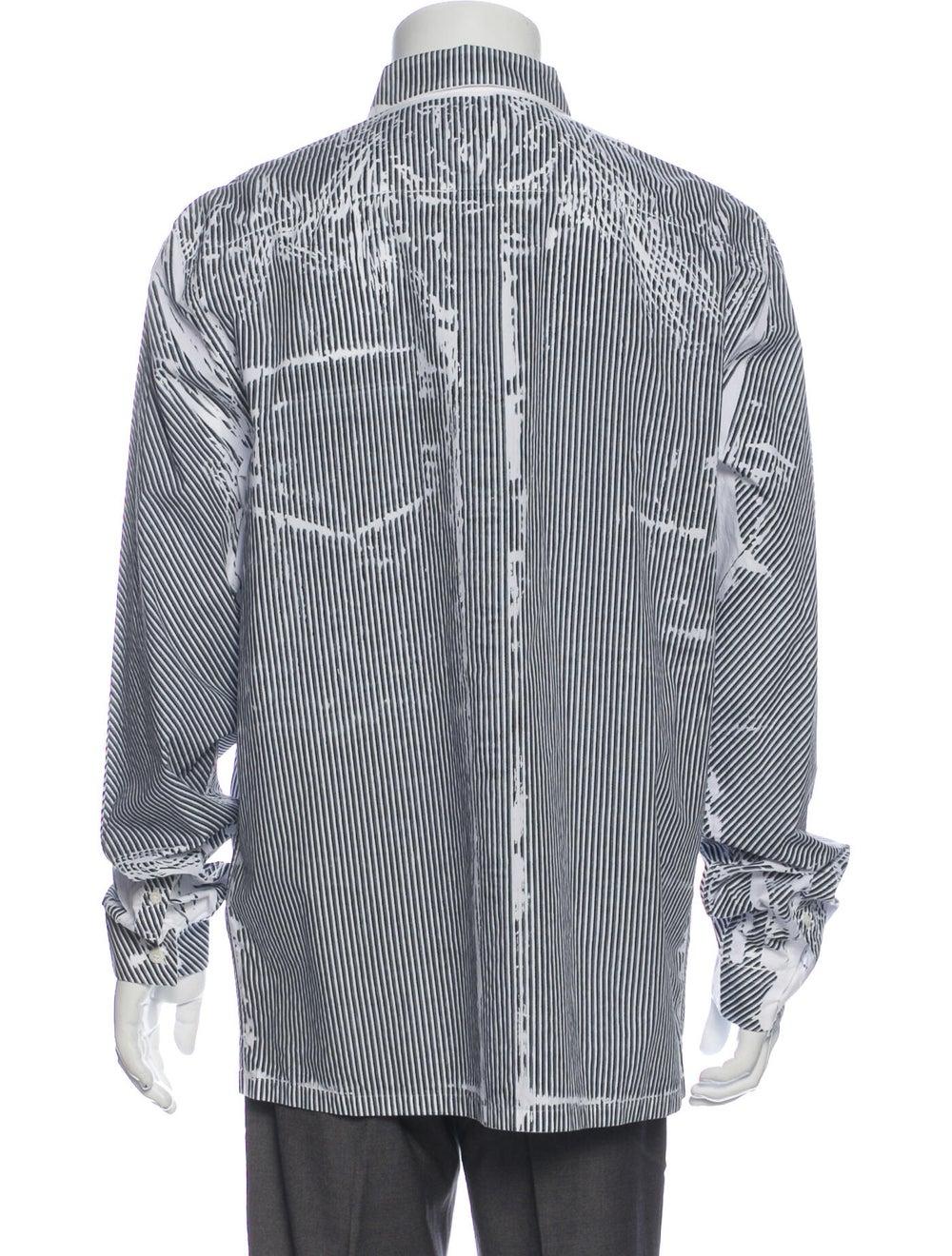 Prada 2019 Striped Dress Shirt Black - image 3