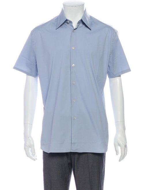 Prada Short Sleeve Shirt Blue - image 1