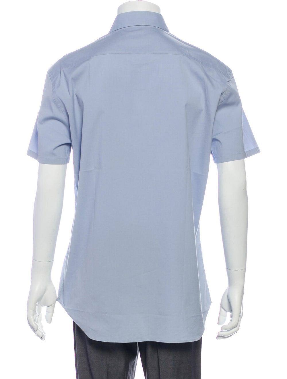 Prada Short Sleeve Shirt Blue - image 3