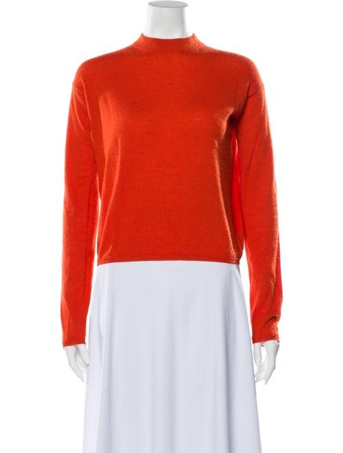 Prada Cashmere Mock Neck Sweater Orange