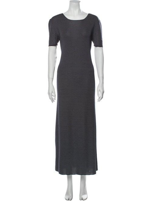 Prada Silk Long Dress Blue