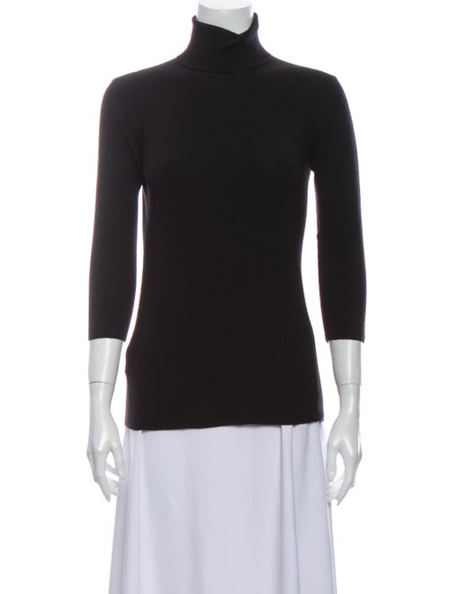 Prada Cashmere Turtleneck Sweater Black