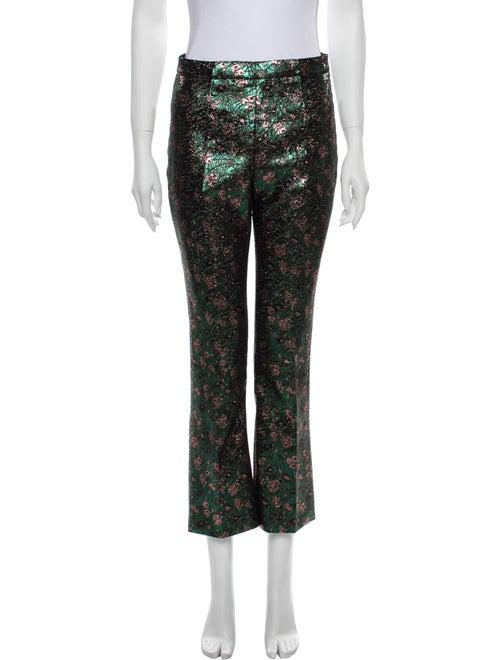 Prada Printed Flared Pants Green