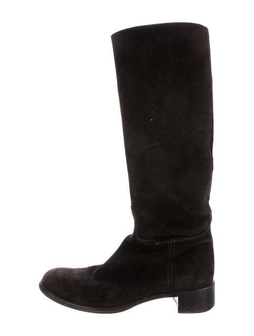 Prada Suede Knee-High Boots - image 1