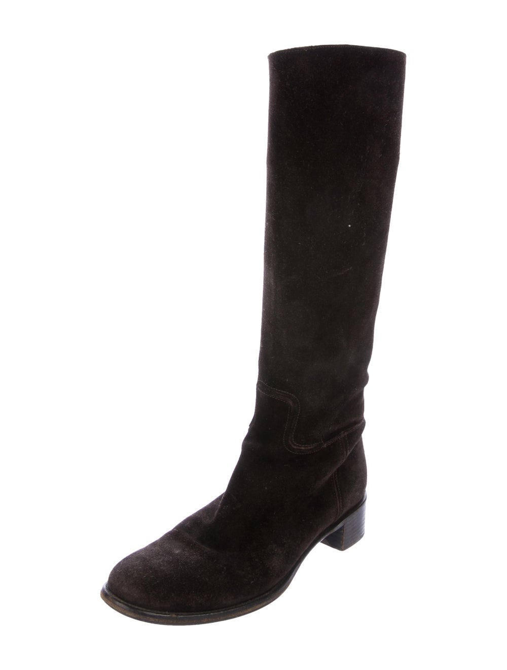 Prada Suede Knee-High Boots - image 2