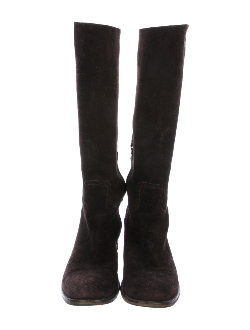 Prada Suede Knee-High Boots - image 3