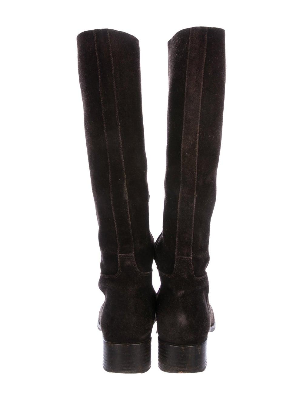 Prada Suede Knee-High Boots - image 4