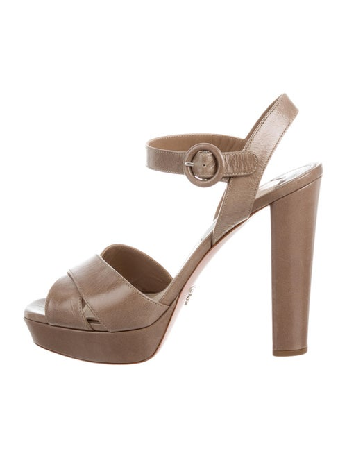 Prada Leather Slingback Sandals