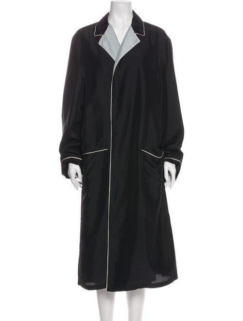 Prada Silk Trench Coat w/ Tags Black