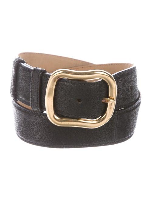 Prada Leather Buckle Belt Black