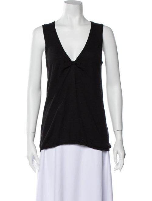 Prada V-Neck Sleeveless Top Black - image 1