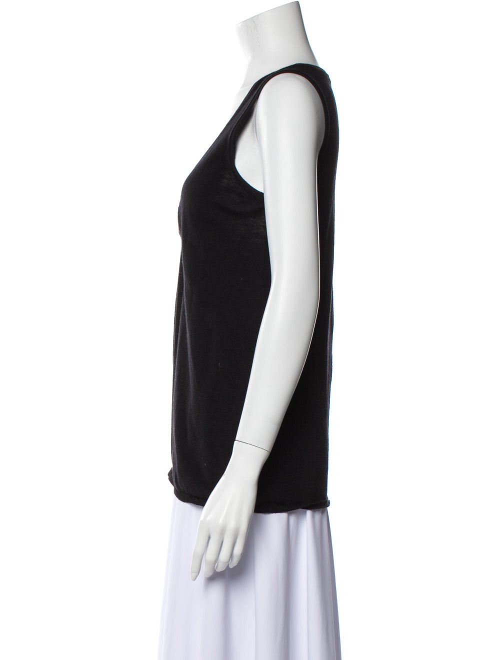 Prada V-Neck Sleeveless Top Black - image 2