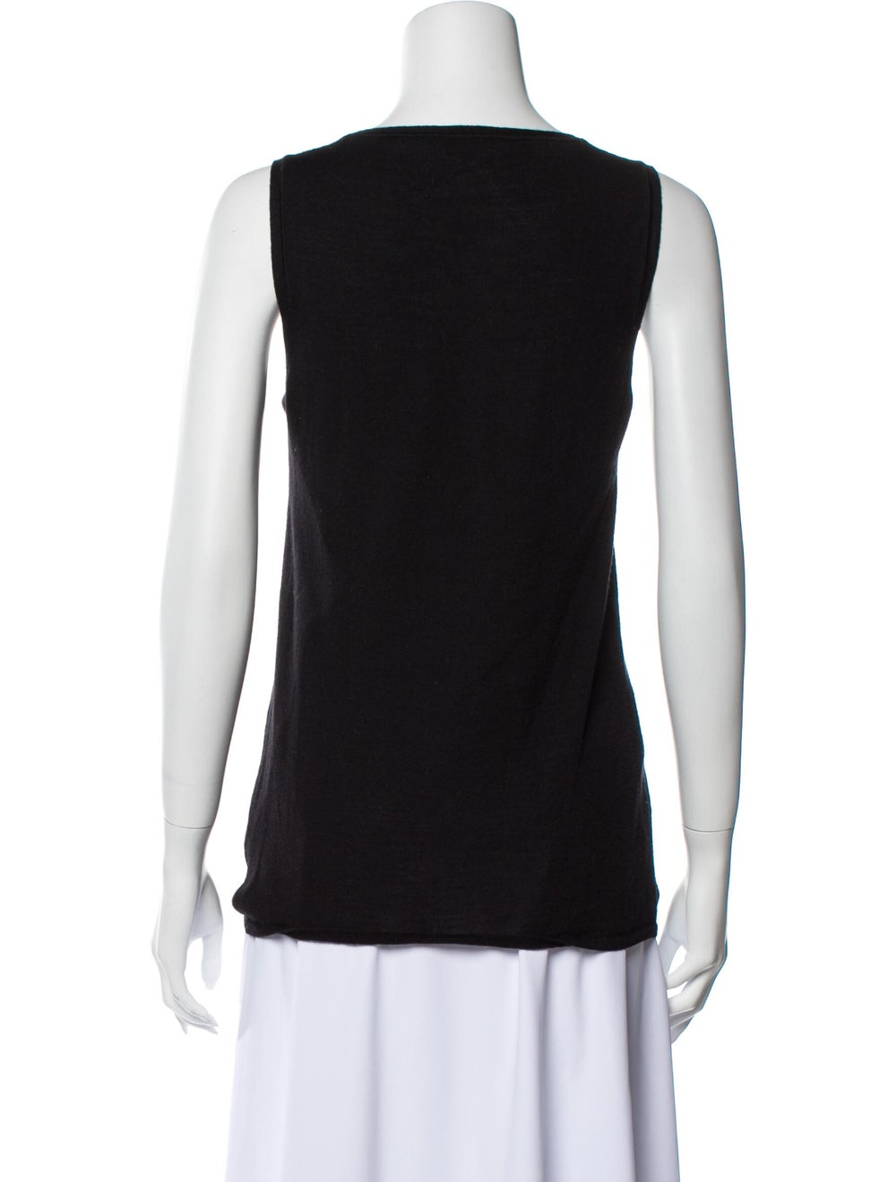 Prada V-Neck Sleeveless Top Black - image 3