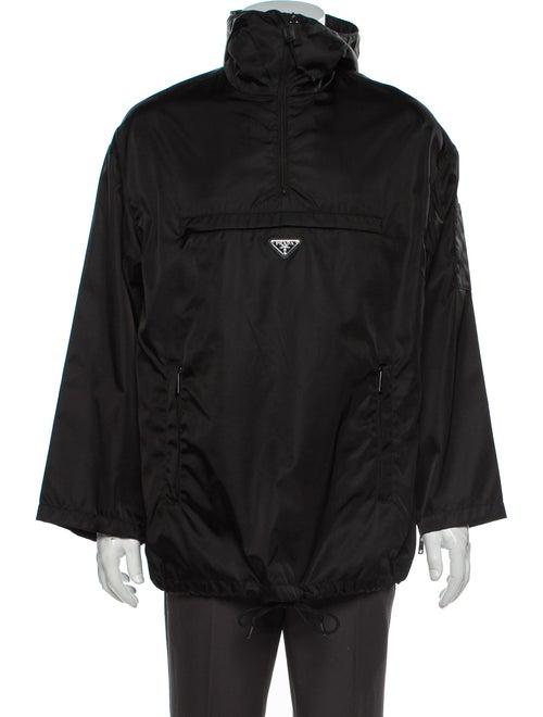 Prada Saffiano Leather Jacket Black