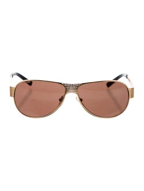 Prada Metal Aviator Sunglasses Gold