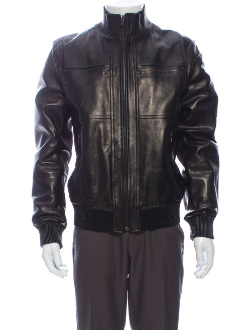 Prada Leather Jacket Black