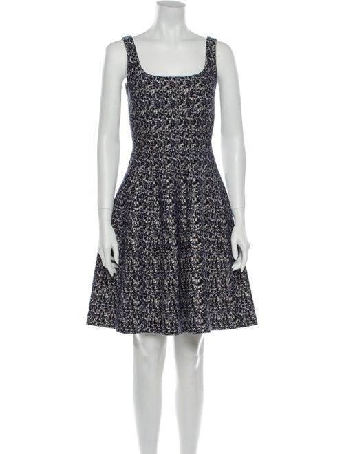 Prada Printed Mini Dress Blue