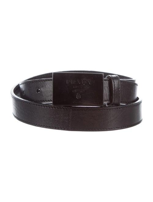 Prada Leather Hip Belt Black