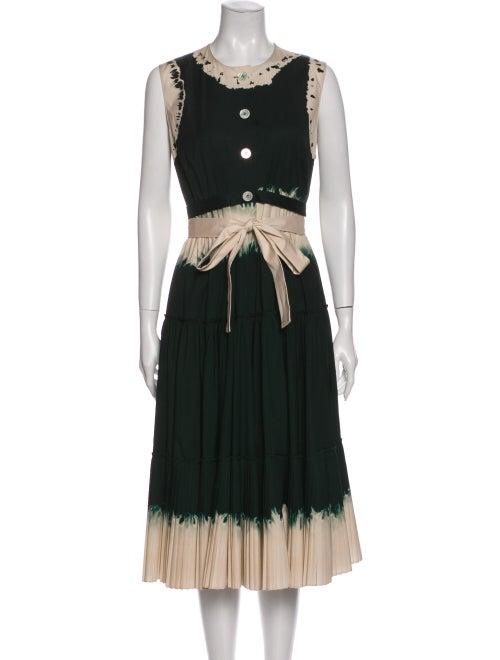 Prada 2020 Midi Length Dress Green
