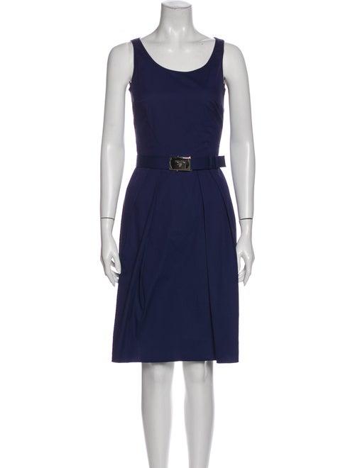 Prada 2008 Knee-Length Dress Blue
