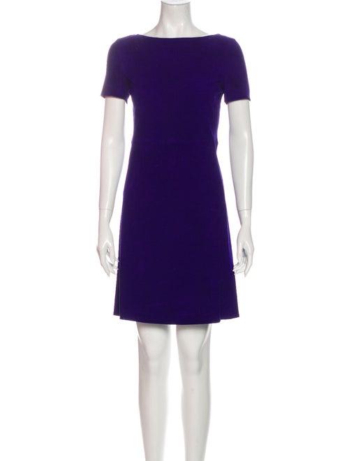 Prada Bateau Neckline Mini Dress Purple
