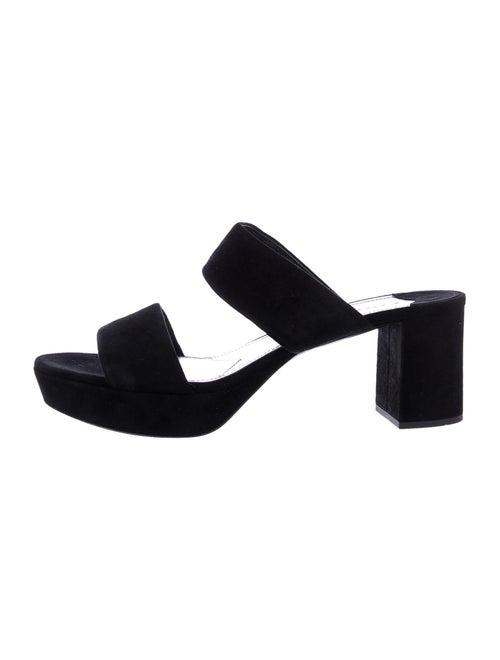 Prada Suede Slides Black