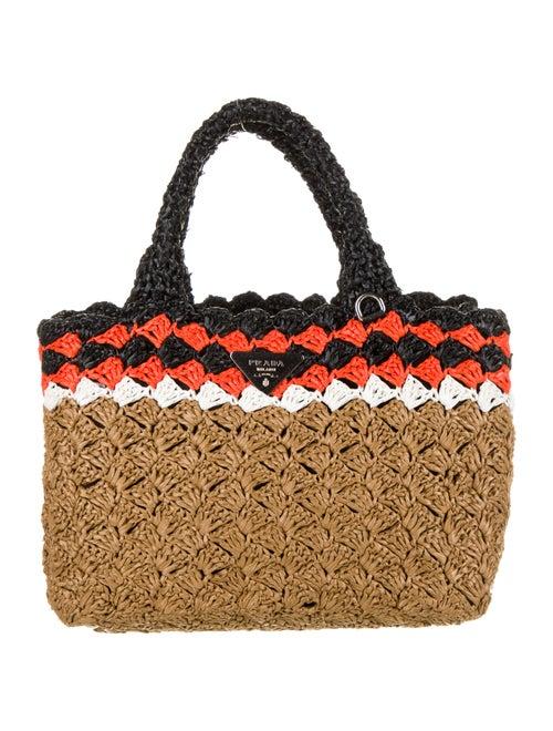 Prada Raffia Crochet Tote multicolor