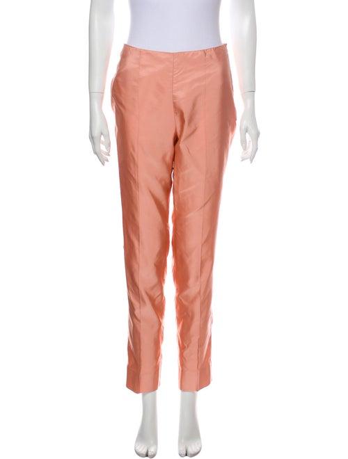 Prada Silk Skinny Leg Pants Pink