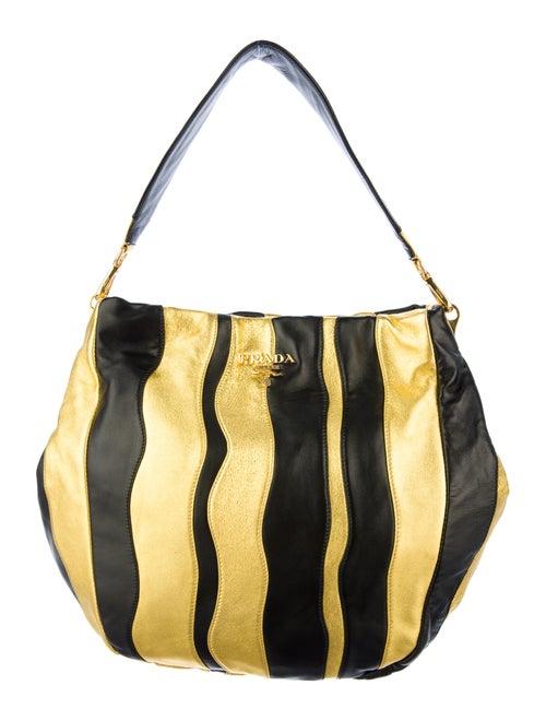 f5521ffaf2 Prada Nappa Stripes Hobo - Handbags - PRA43399