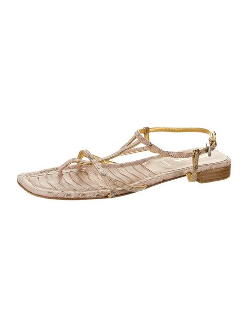 Prada Snakeskin Animal Print Sandals
