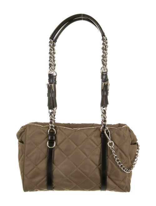 Prada Quilted Nylon Shoulder Bag Brown
