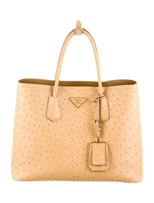 58c89d207d6 Prada Ostrich Double Tote - Handbags - PRA43728
