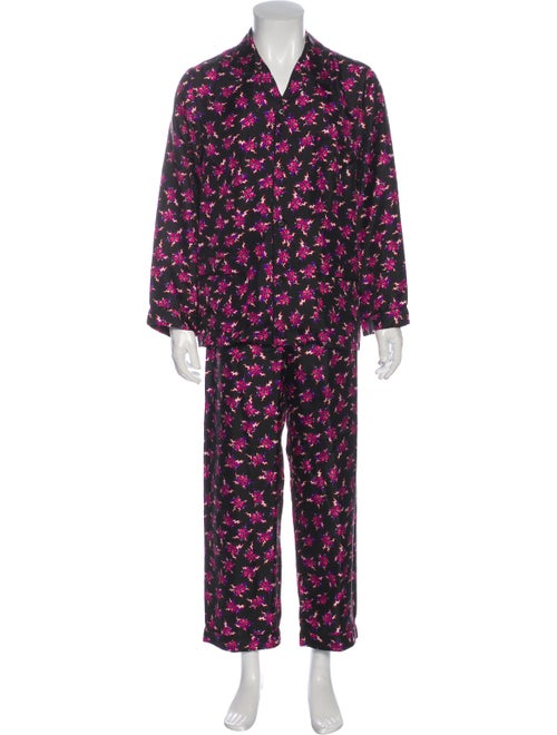 Prada 2019 Heart Pajama Set Black
