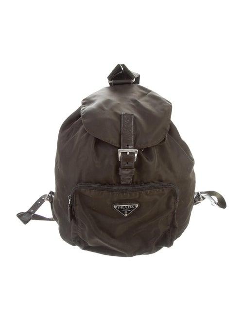 Prada Tessuto Nylon Backpack green