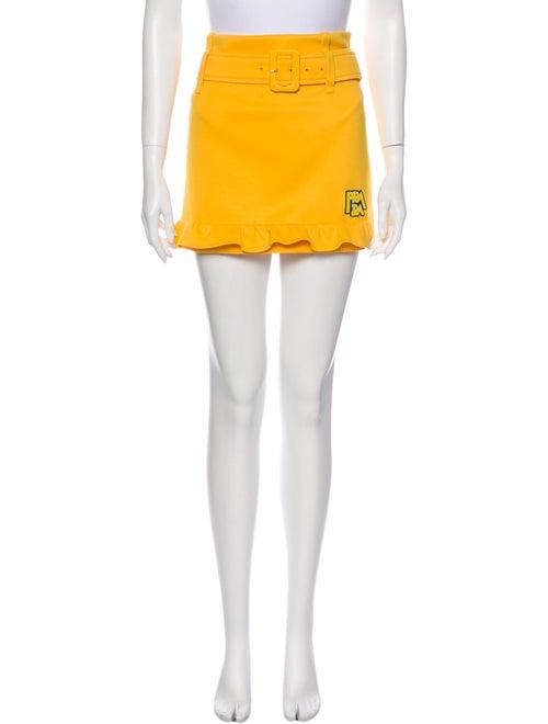 Prada 2019 Mini Skirt w/ Tags Yellow