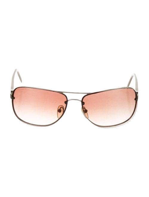 Prada Rimless Square Sunglasses Silver