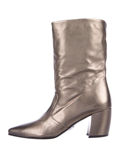 Prada Leather Boots Gold