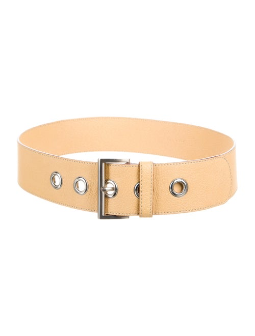 Prada Leather Waist Belt Yellow
