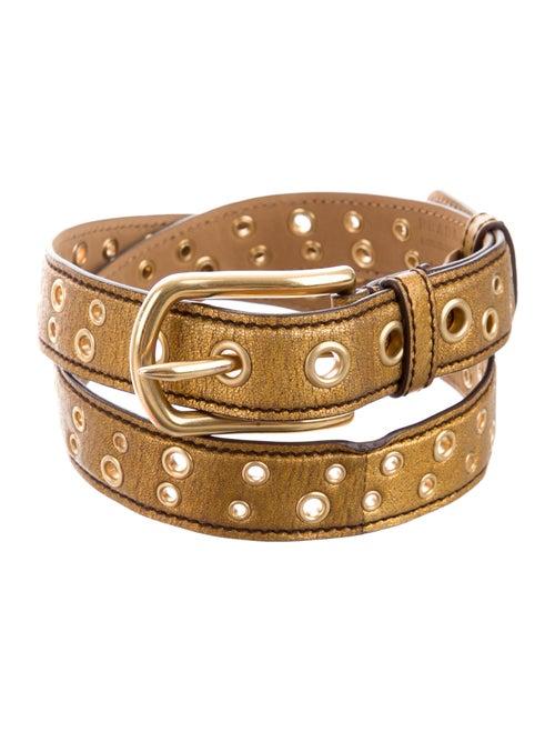 Prada Vintage Leather Belt Gold